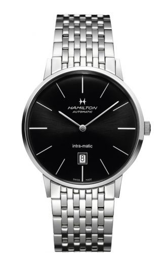 H38755131 : Hamilton Intra-Matic 42 Stainless Steel / Black / Bracelet
