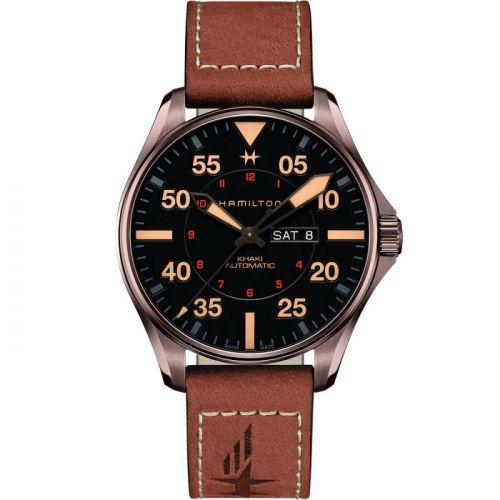 Hamilton H64705531 : Khaki Aviation Pilot Day-Date Auto 46 PVD / Black