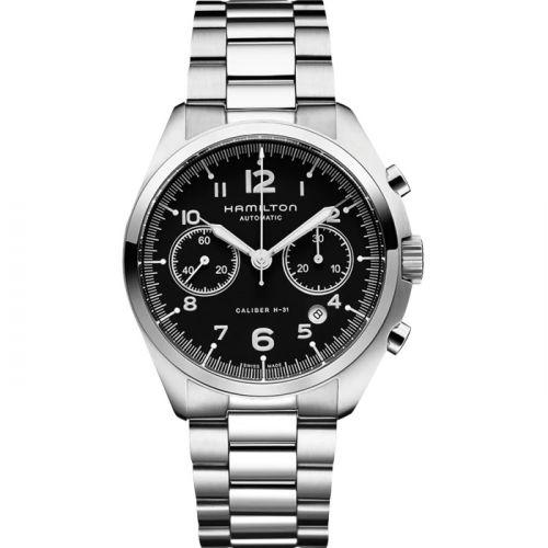 Hamilton H76416135 : Khaki Pilot Pioneer Auto Chrono Black / Bracelet