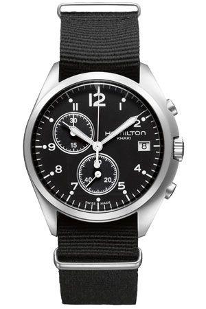 Hamilton H76552433 : Khaki Pilot Pioneer Chrono Quartz Black / NATO