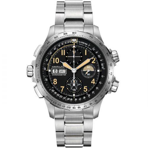 Hamilton H77796135 : Khaki Aviation X Wind Day Date Auto Chrono / Bracelet