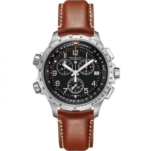 Hamilton H77912535 : Khaki Aviation X-Wind GMT Chrono Quartz Black