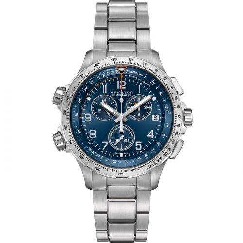 Hamilton H77922141 : Khaki Aviation X-Wind GMT Chrono Quartz Blue / Bracelet