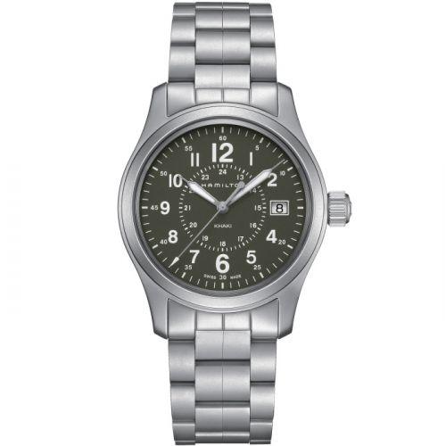 Hamilton H68201163 : Khaki Field Quartz 38 Stainless Steel / Green / Bracelet