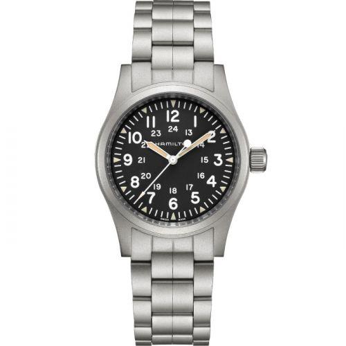Hamilton H69439131 : Khaki Field Mechanical 38 Black / Bracelet