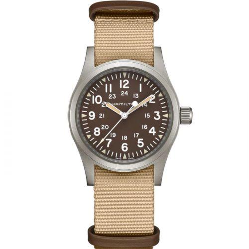Hamilton H69439901 : Khaki Field Mechanical 38 Brown