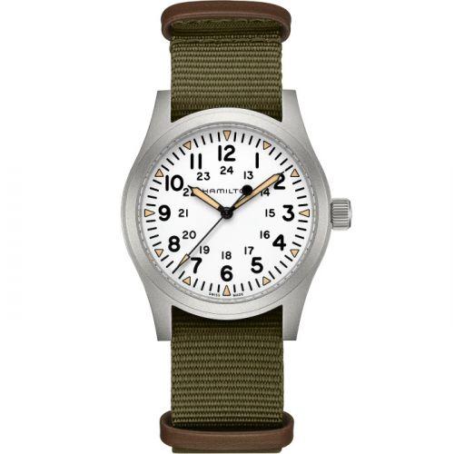 Hamilton H69529913 : Khaki Field Mechanical 42 White / Bracelet