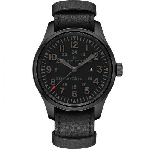 Hamilton H69809730 : Khaki Field Mechanical 50 PVD / Black