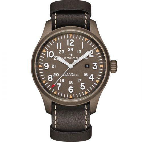 Hamilton H69829560 : Khaki Field Mechanical 50 PVD / Brown