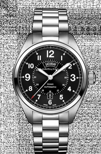 Hamilton H70505133 : Khaki Field Day Date Automatic