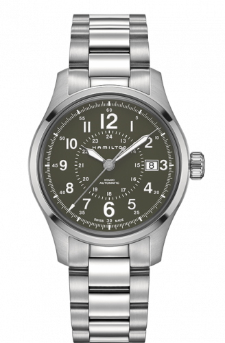 Hamilton H70595163 : Khaki Field Automatic 40mm Green / Bracelet
