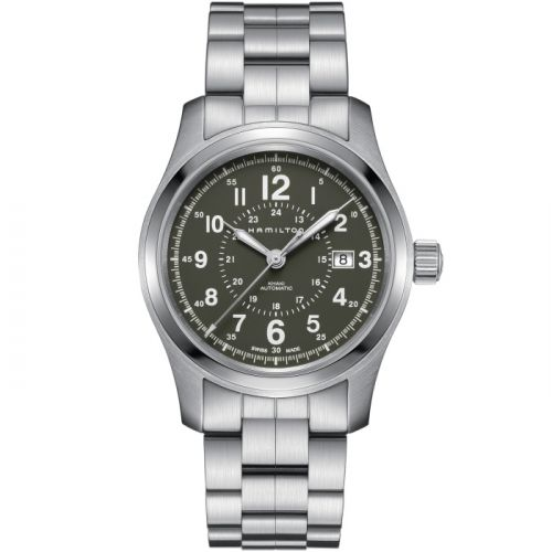 Hamilton H70605163 : Khaki Field Auto 42 Stainless Steel / Green / Bracelet