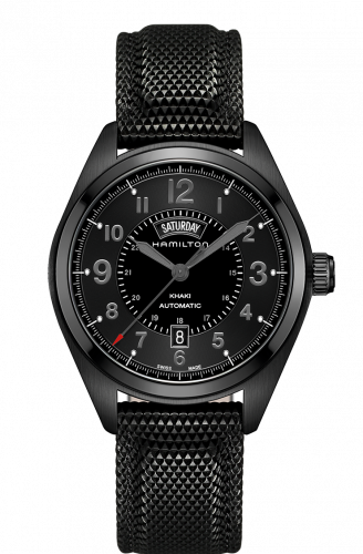 Hamilton H70695735 : Khaki Field Automatic Day Date PVD / Black