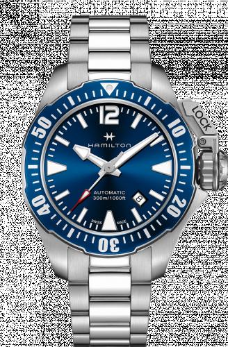 Hamilton H77705145 : Frogman Auto Blue Bracelet