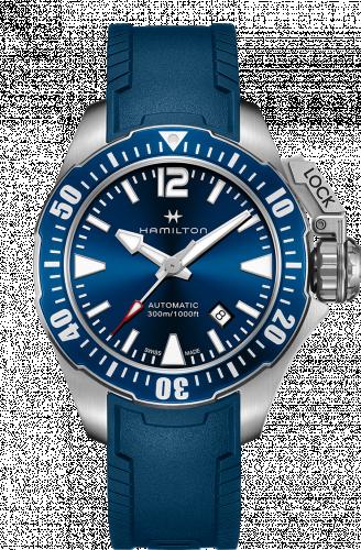 Hamilton H77705345 : Frogman Auto Blue Strap