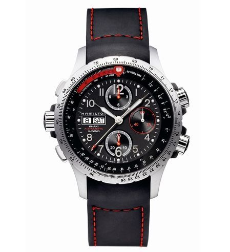 Hamilton H77646833 : Khaki Aviation X-Wind Automatic Black-Orange / Leather