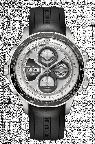Hamilton H77726351 : Khaki Aviation X-Wind Automatic Silver / Rubber