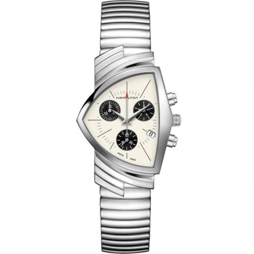 Hamilton H24432751 : Ventura Chrono Quartz 32.3 Stainless Steel / Panda / Bracelet