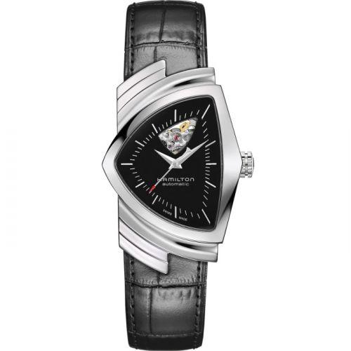 Hamilton H24515732 : Ventura Open Heart Auto Stainless Steel / Black