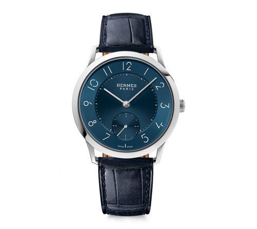 Hermès  W043204WW00 : Slim d'Hermès GM Stainless Steel / Blue