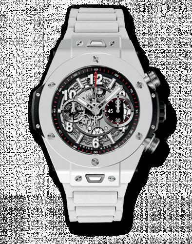 Hublot 411.HX.1170.HX : Big Bang Unico 45 White Ceramic / Bracelet
