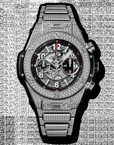 Hublot 411.NX.1170.NX.3704 : Big Bang Unico 45 Titanium / Pavé / Bracelet