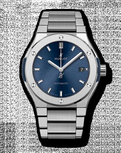 Hublot 510.NX.7170.NX : Classic Fusion 45 Titanium / Blue / Bracelet