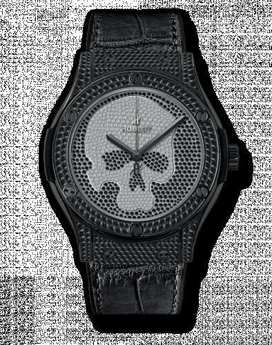 Hublot 511.ND.9100.LR.1700.SKULL : Classic Fusion 45 Skull Black Full Pavé