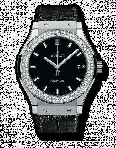 Hublot 511.NX.1171.LR.1104 : Classic Fusion 45 Titanium Diamonds / Black