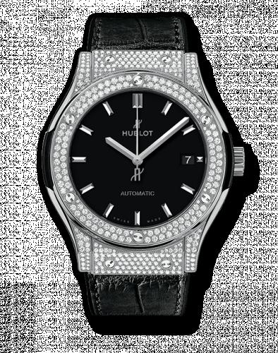 Hublot 511.NX.1171.LR.1704 : Classic Fusion 45 Titanium Pavé / Black / Diamond