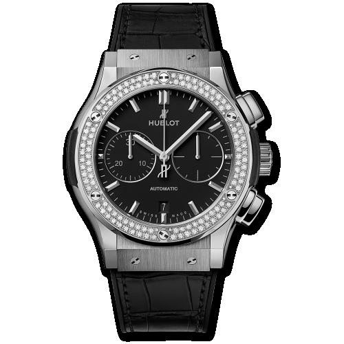 Hublot 521.NX.1171.LR.1104 : Classic Fusion 45 Chronograph Titanium / Diamonds