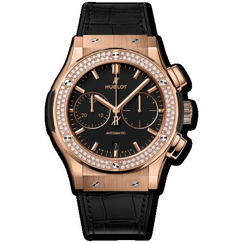 Hublot 521.OX.1181.LR.1104 : Classic Fusion 45 Chronograph King Gold / Diamonds