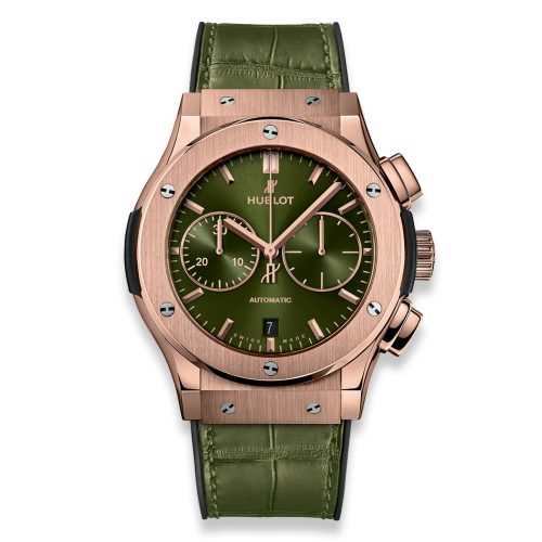 Hublot 521.OX.8980.LR : Classic Fusion 45 Chronograph King Gold / Green