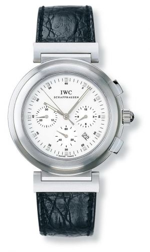 IW3728-08 : IWC Da Vinci SL Chronograph MecaQuartz Stainless Steel Brushed / White / Croco