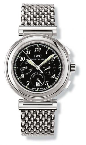 IW3728-11 : IWC Da Vinci SL Chronograph MecaQuartz Stainless Steel / Black Breguet / Bracelet