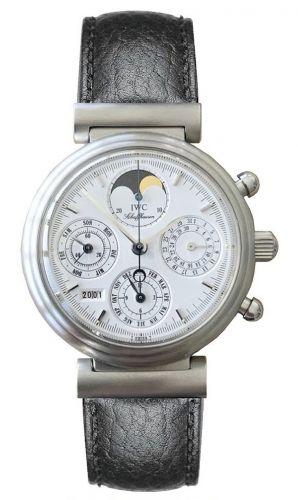 IWC IW3750-10 : Da Vinci Perpetual Stainless Steel / White / German
