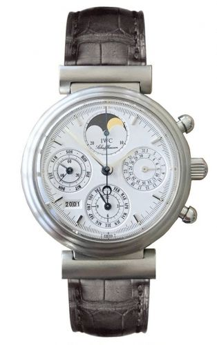 IWC IW3750-11 : Da Vinci Perpetual Stainless Steel / White / German