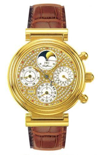IWC IW3750-15 : Da Vinci Perpetual Yellow Gold / Paved / German