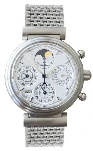 IWC IW3750-22 : Da Vinci Perpetual Stainless Steel / White / French / Bracelet