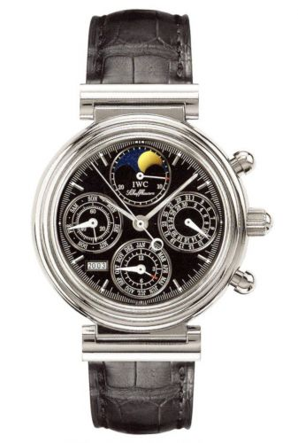 IWC IW3750-31 : Da Vinci Perpetual Stainless Steel / Black / French