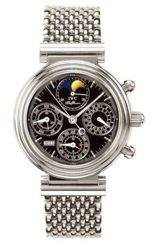 IWC IW3750-33 : Da Vinci Perpetual Stainless Steel / Black / Italian / Bracelet