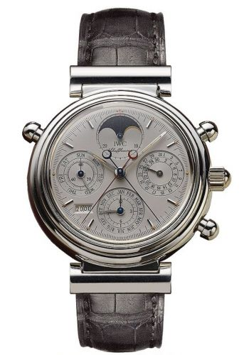 IWC IW3751-02 : Da Vinci Perpetual Rattrapante Platinum / Silver / German