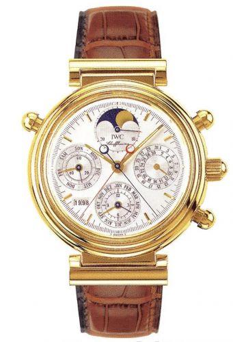 IWC IW3751-06 : Da Vinci Perpetual Rattrapante Yellow Gold / Silver / Italian
