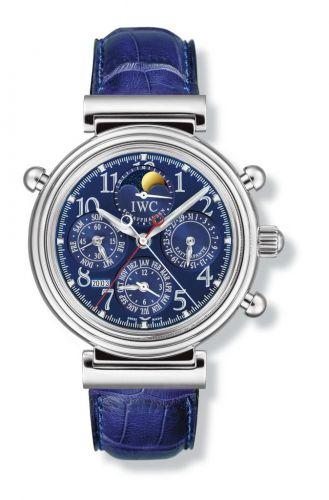 IWC IW3754-05 : Da Vinci Perpetual Rattrapante Platinum / Blue / German