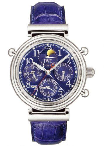 IWC IW3754-08 : Da Vinci Perpetual Rattrapante Platinum / Blue / French