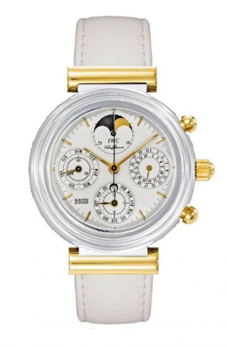 IWC IW3755-07 : Da Vinci Perpetual White Ceramic / Yellow Gold / White / English