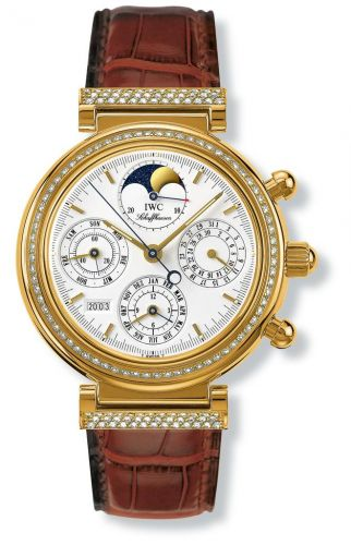IWC IW8153-01 : Da Vinci Perpetual Yellow Gold / Diamond / White / German