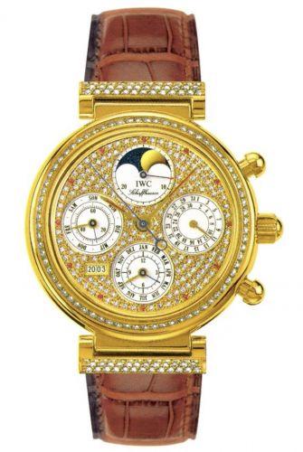 IWC IW8153-07 : Da Vinci Perpetual Yellow Gold / Diamond / Paved / English