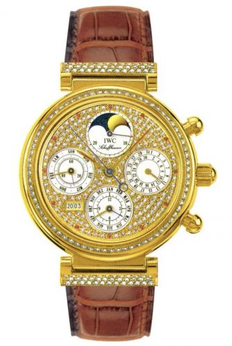 IWC IW8153-08 : Da Vinci Perpetual Yellow Gold / Diamond / Paved / French
