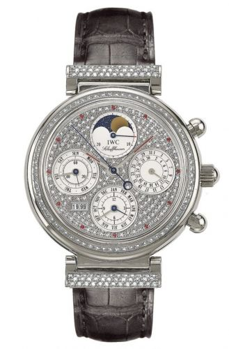 IWC IW8153-14 : Da Vinci Perpetual White Gold / Diamond / Paved / Italian